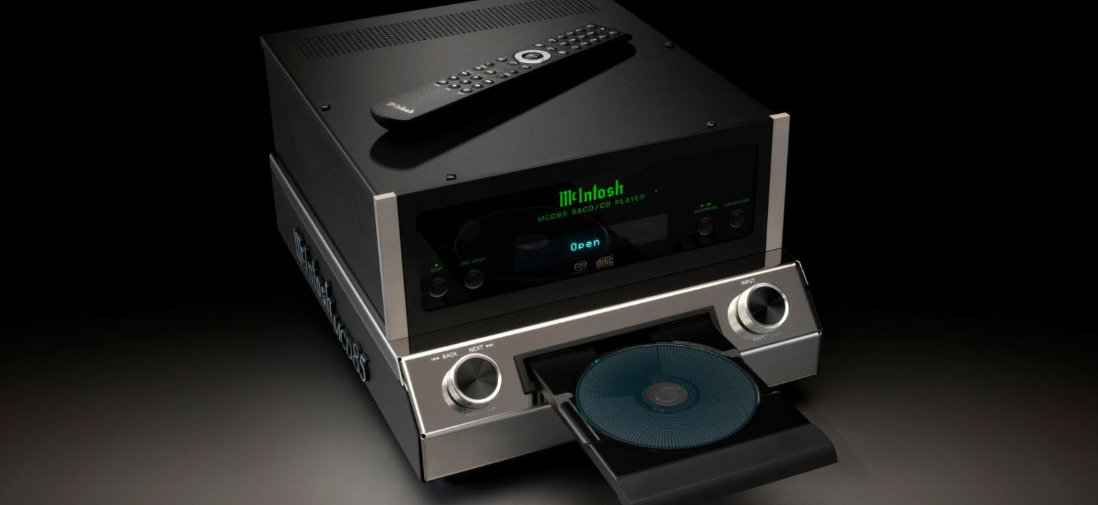 New MCD85 SACD/CD Player brings advanced McIntosh technologies to CD/SACD collections and USB devices